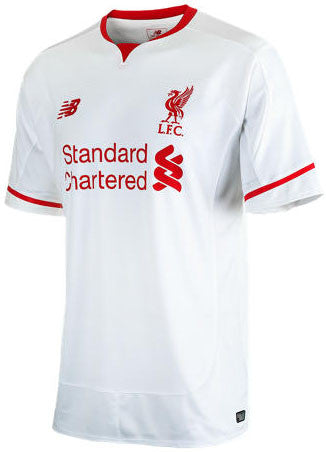new arrival 704c9 6d939 New Balance Liverpool 15/16 Away Jersey - White