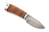 A&R, Ded Mazay, Hunting, Fixed, Zladinox ZDI1016 Stainless Damascuss, Birch Bark