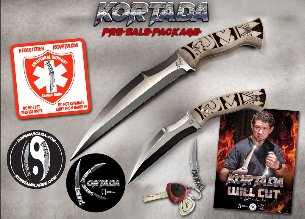 Kortada Limited Edition Set, 2 knives.  Designed by Doug Marcaida!