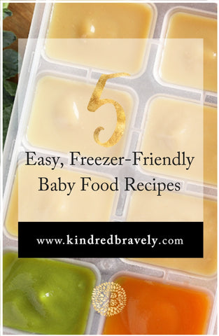 5 Easy, Freezer-Friendly Baby Food Recipes