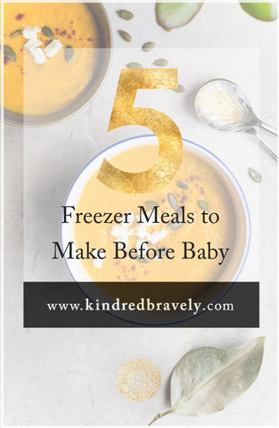 5 freezer meals to make before baby