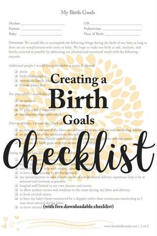 Creating A Birth Plan Kindred Bravely