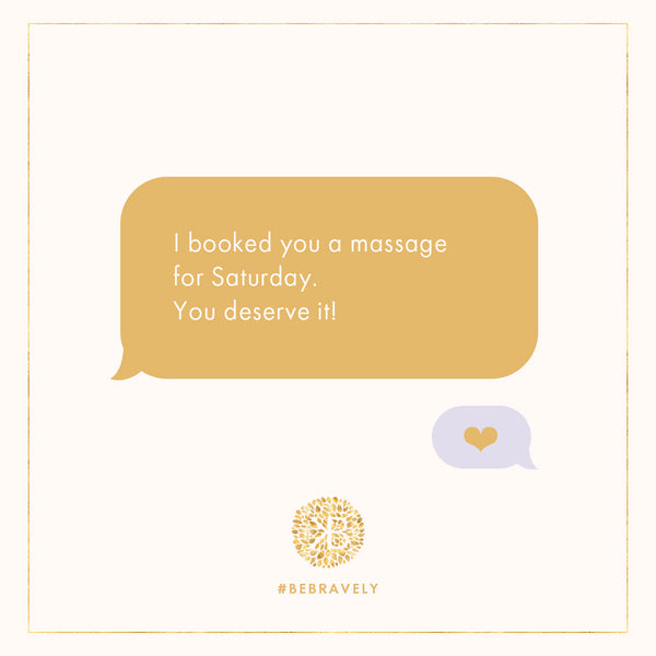 I booked you a massage, texts new moms want from their partners