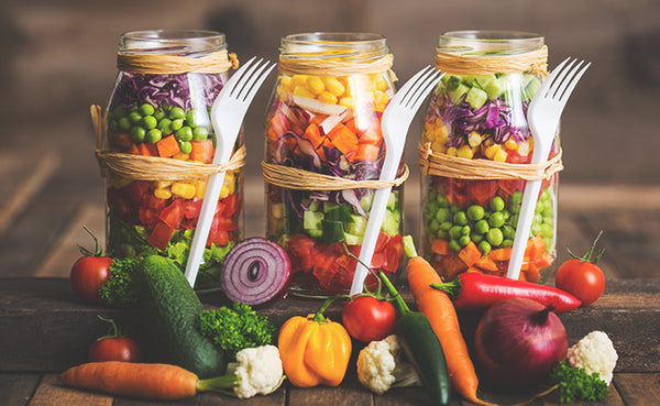 mason jars, meal prep for busy moms