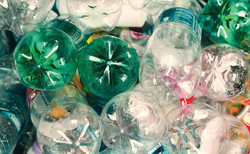 recycled polyester plastic bottles