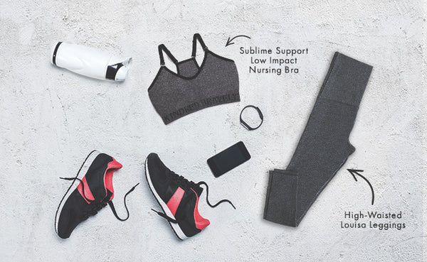 Nursing Sports Bra and Louisa high-waisted pregnancy leggings