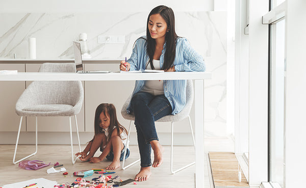 how moms can find time for themselves, working from home