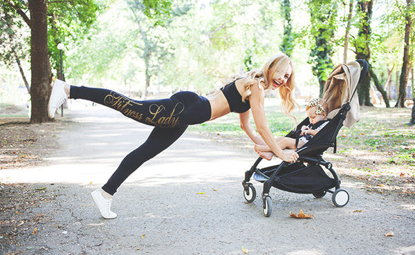 postpartum exercise, working out after baby