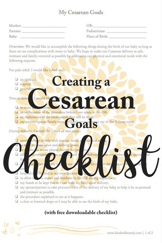 How to Create a Cesarean Goals Checklist