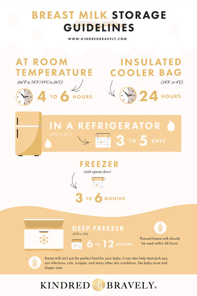 Breast Milk Storage Infographic