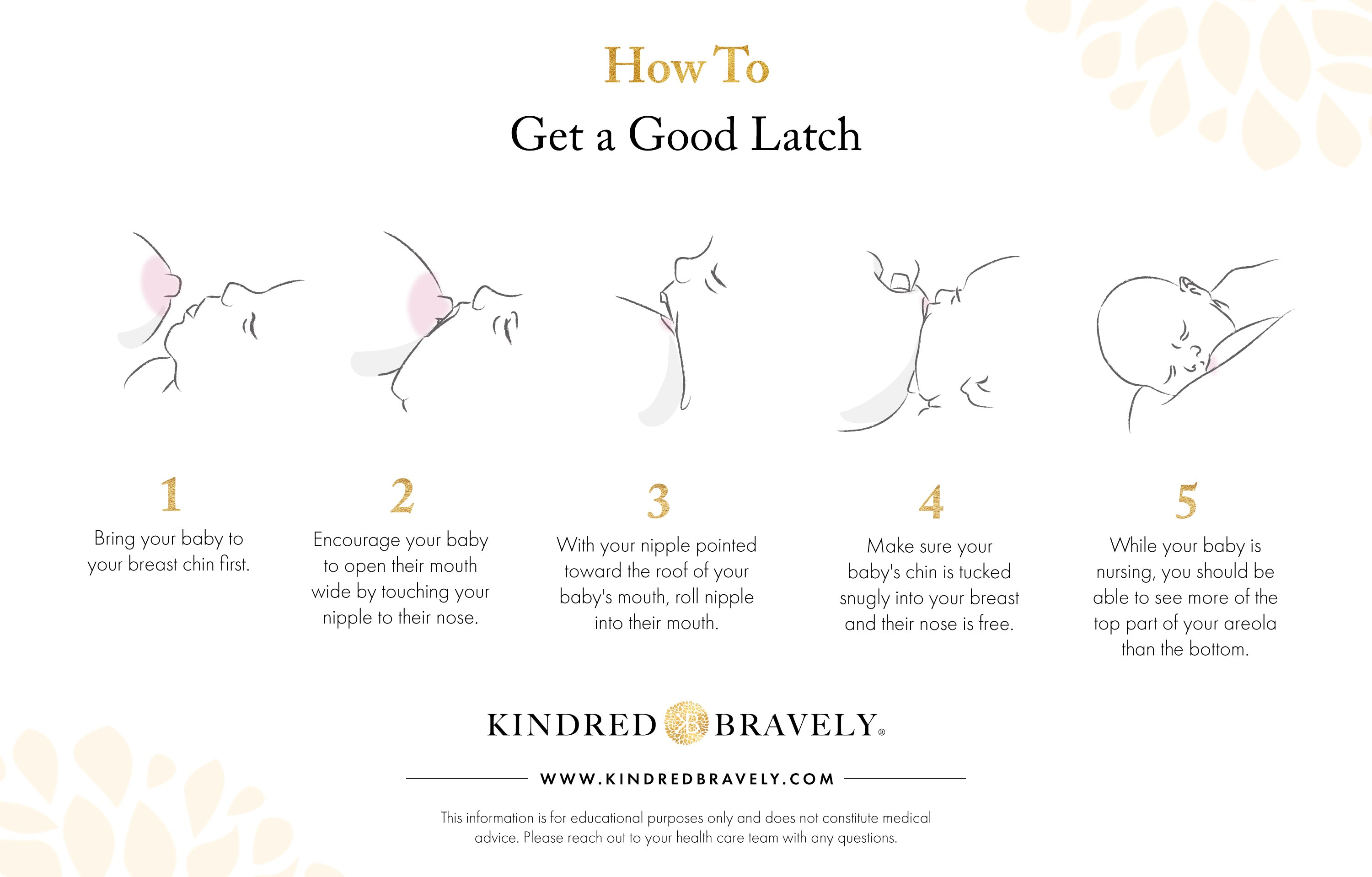 how to get a good latch, latching tips