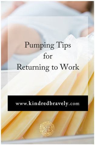 Pumping tips for returning to work