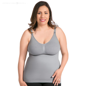Simply Sublime Maternity & Nursing Tank | Grey-kindred-bravely