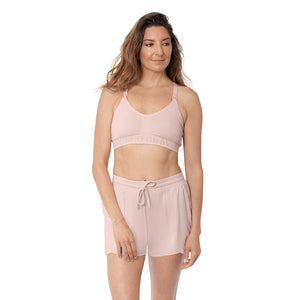Bamboo Maternity & Postpartum Lounge Shorts | Dusty Pink-kindred-bravely