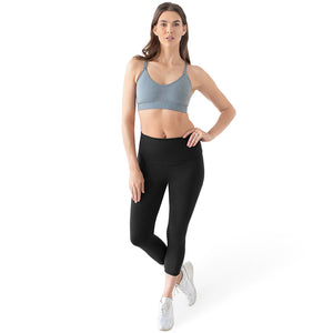 Martina Maternity & Postpartum Support Crop Pocket Leggings | Black-kindred-bravely
