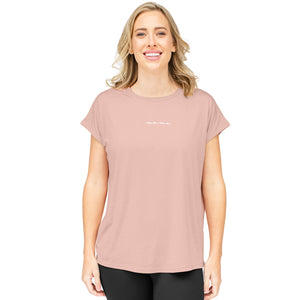 Relaxed Mama Athleisure Nursing & Maternity Top | Pink Heather