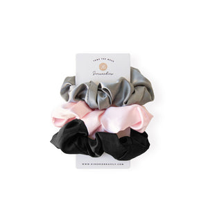 Satin Tangle Free Scrunchies (3 Pack) - Kindred Bravely