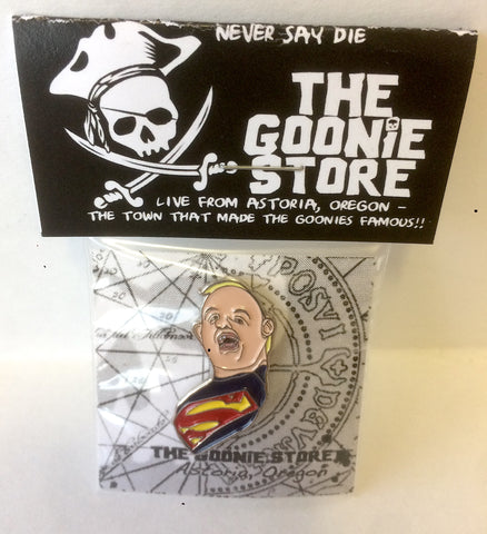 Enamel pin SLOTH SUPERMAN