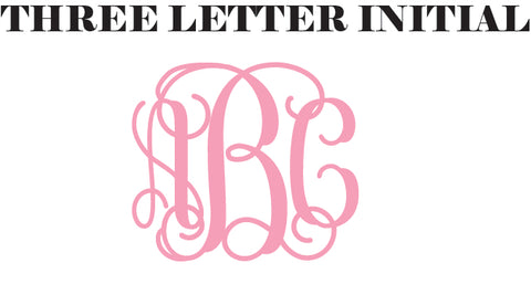 a married womans monogram is commonly placed in the order of her first name married last name maiden nametypically the last name is bigger than the