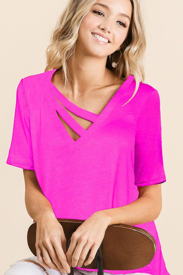 Color of Summer - Top - Fuchsia