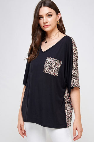 *SALE* Two Sides To Leopard - Top - Black