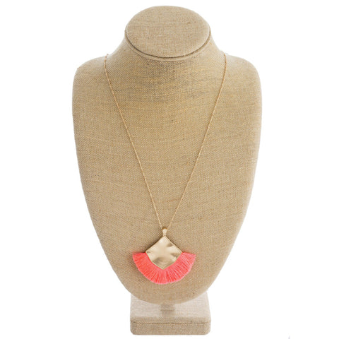Addie Necklace - Neon Coral
