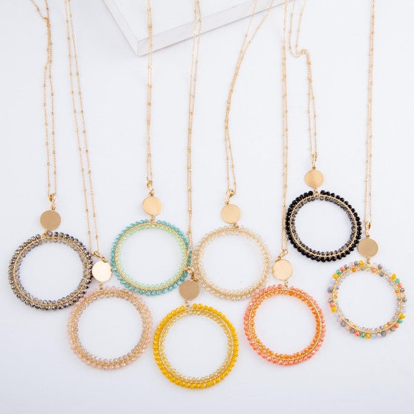 *SALE* Madison Beaded Circle Necklace