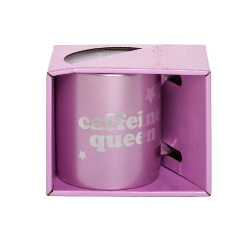 8oz Pink Caffeine Queen Coffee Mug