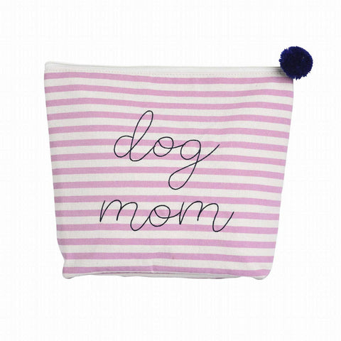 Dog Mom Stripe Pouch