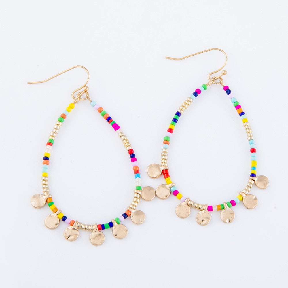 Kenna Seed Bead Teardrop Earrings