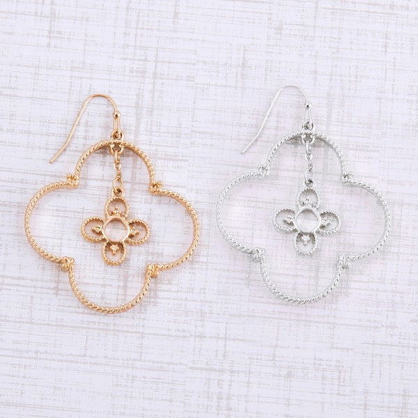 Nested Quatrefoil Dangle Earrings