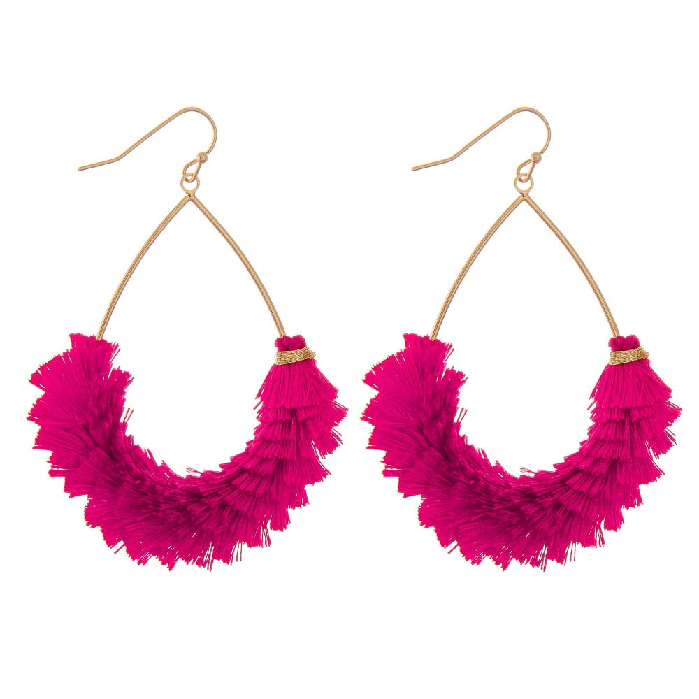 Sasha Tassel Teardrop Earrings