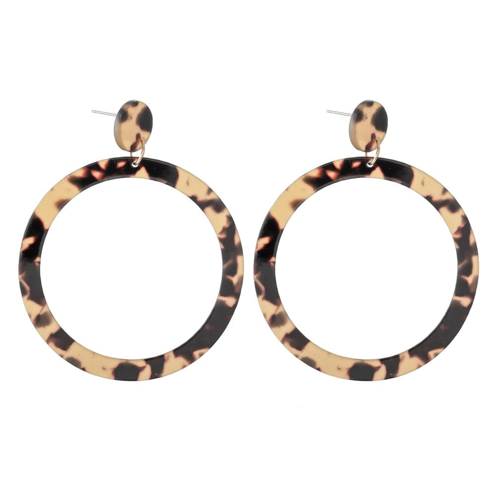 Round Resin Statement Earring