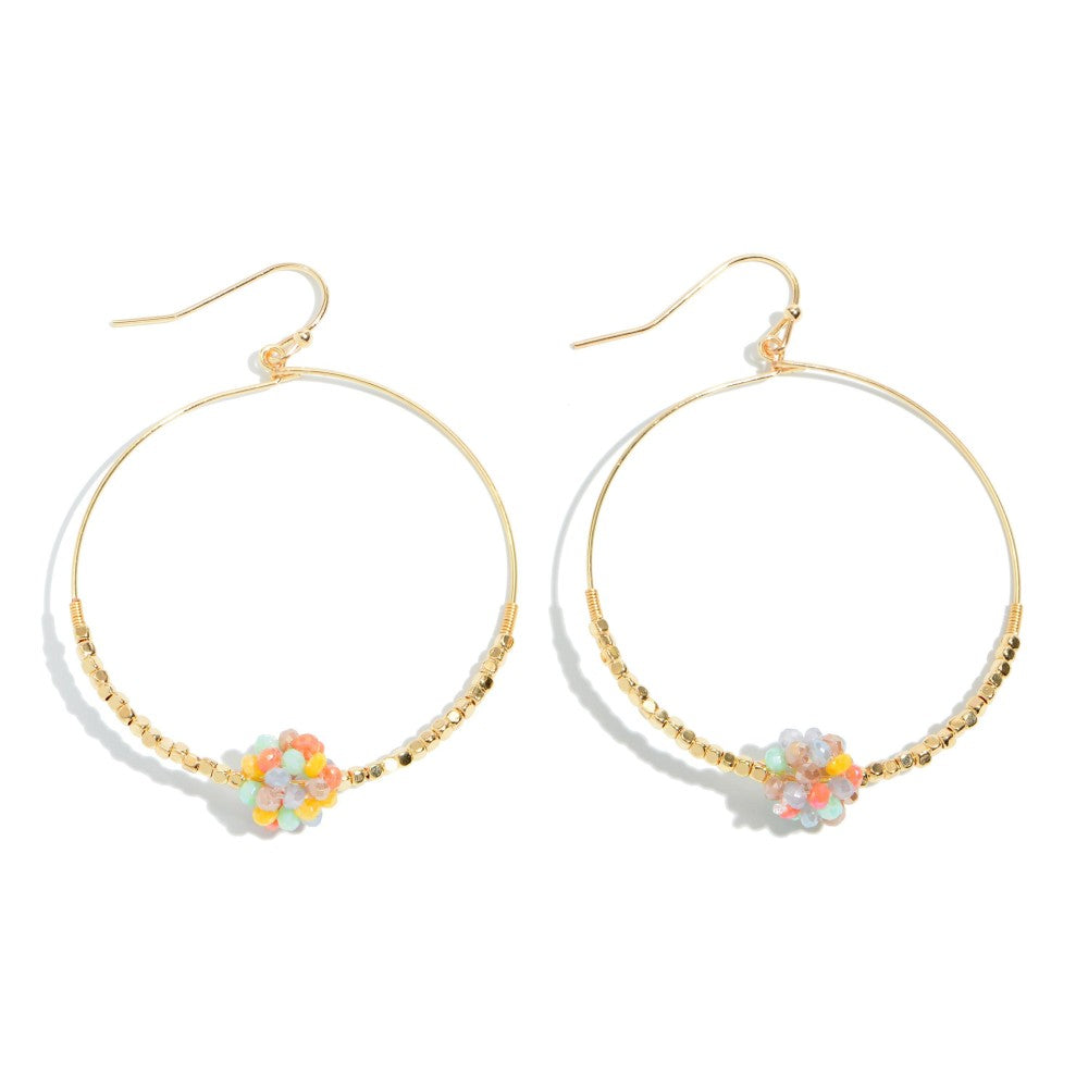Hattie Cluster Hoop Earrings