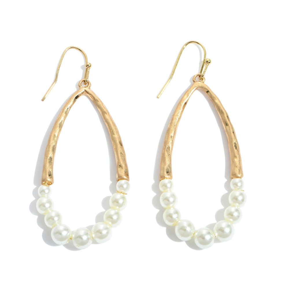 Laurel Pearl Beaded Teardrop Earrings