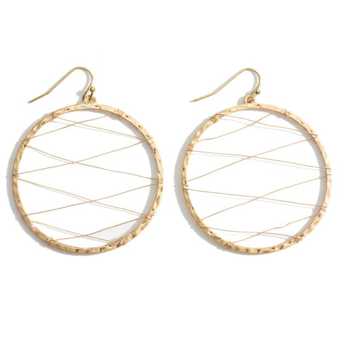 Maleah Circle Wire Accent Earrings
