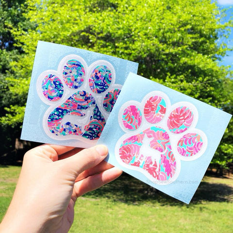 Lilly Dog Paw Silhouette Decal