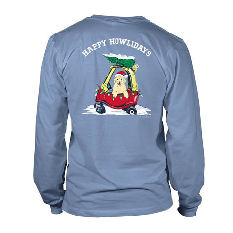 Happy Howlidays - Blue - Long Sleeve T-Shirt