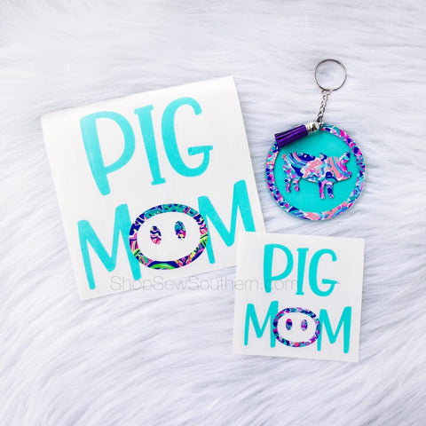 Lilly Pig Mom Decal