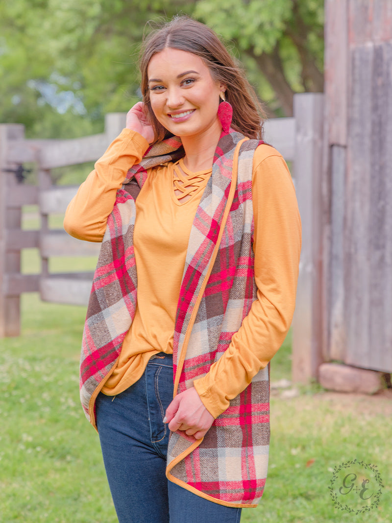 Reeses's Fall Plaid Vest