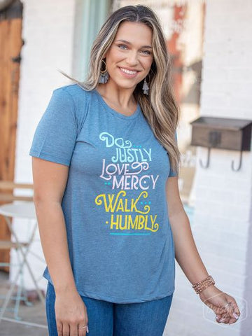 Do Justly, Love Mercy, Walk Humbly Graphic Tee