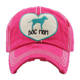 *SALE* Dog Mom Heart Baseball Cap