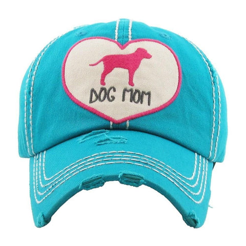 Dog Mom Heart Baseball Cap