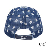 CC USA Flag Star Baseball Cap - Blue