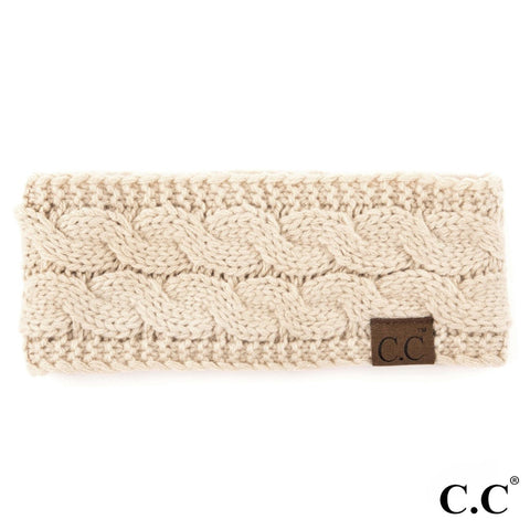 Cable Knit with Sherpa Lining - CC Headband