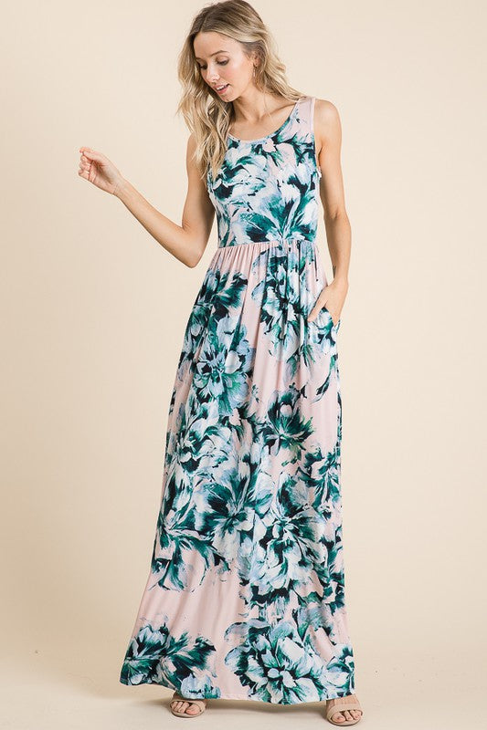 *SALE* Take Your Love Floral Maxi - Dress