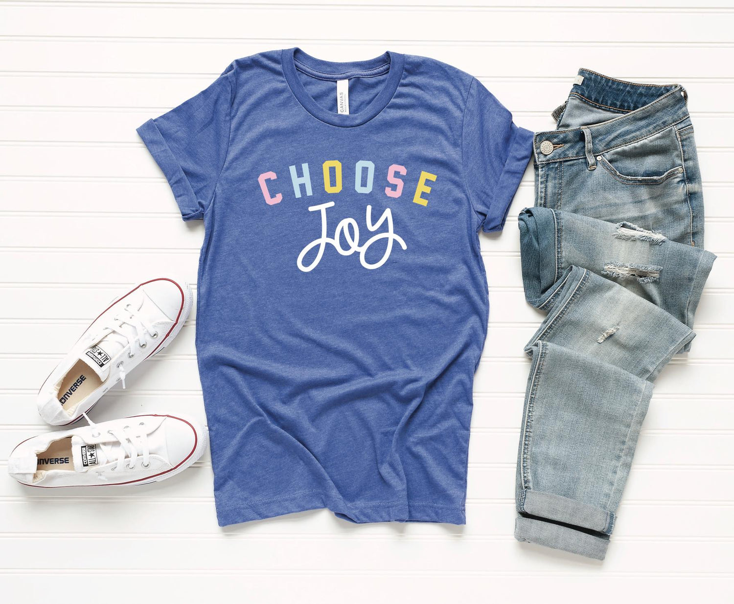 *SALE* Choose Joy - Blue - Graphic T-Shirt