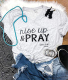 Rise Up and Pray Triblend - Graphic T-Shirt