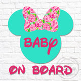 Lilly Minnie Baby On Board Decal
