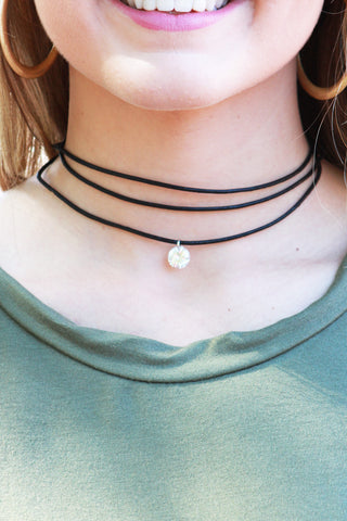 Black Layered Diamond Choker Necklace